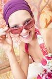 piękny barwiony dziewczyny gwoździ ja target3016_0_ Fotografia Stock