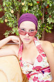 piękny barwiony dziewczyny gwoździ ja target4712_0_ Fotografia Stock