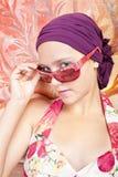 piękny barwiony dziewczyny gwoździ ja target550_0_ Obrazy Royalty Free