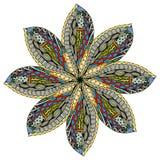 Piękny Barwiony mandala ilustracja wektor