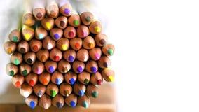 Piękny barwiony ołówka tło obrazy royalty free
