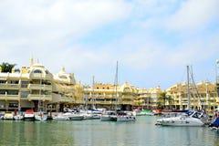 piękny Benalmadena marina, Costa Del Zol, Hiszpania obraz royalty free