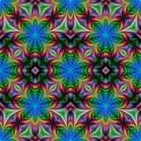 Piękny bezszwowy kwiatu wzór w fractal projekcie Grafika dla royalty ilustracja