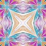 Piękny bezszwowy kwiatu wzór w witrażu okno stylu Obraz Royalty Free