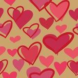 Piękny bezszwowy tło z stubarwnymi sercami royalty ilustracja