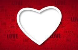 Piękny biały serce Obraz Royalty Free
