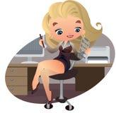 Piękny bizneswoman z notatką royalty ilustracja