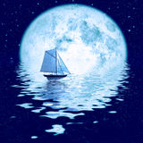 piękny blask księżyca obraz royalty free