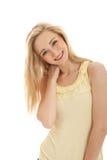 piękny blond doskonalić uśmiech kobiety Obrazy Royalty Free