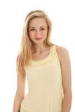 piękny blond doskonalić uśmiech kobiety Fotografia Stock