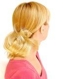 piękny blond włosy, obraz stock