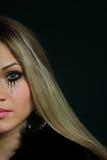 piękny blondynki żakieta futerko Fotografia Stock