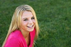 piękny blondynki piękna dziewczyna Zdjęcie Stock