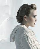 piękny blondynki profilu strzał Obraz Stock