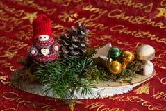 Piękny boże narodzenie dekoraci zimy dziecko Obrazy Royalty Free