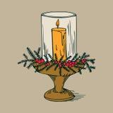 Piękny bożego narodzenia candlestick royalty ilustracja