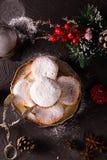 Piękny bożego narodzenia pojęcie z cukierkami i akcesoriami zdjęcie royalty free
