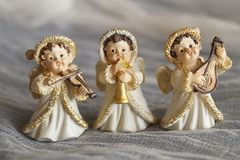 Piękny bożego narodzenia tło z aniołami zdjęcie stock