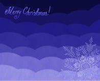 Piękny Bożenarodzeniowy tło z płatkami śniegu dla projekta use. (nowego roku) Zdjęcia Royalty Free