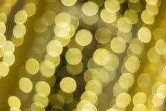 Piękny Bożenarodzeniowy złocisty bokeh tło z puste miejsce kopii przestrzenią zdjęcia stock