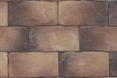 Piękny brązu brąz dryluje cegły, tło tekstura Zbudowanego kamienia textured piwnica i schodki obrazy royalty free