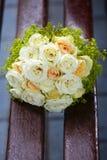 piękny bridal bukiet przy przyjęciem weselnym Obraz Royalty Free