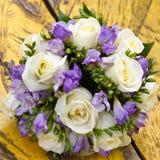 piękny bridal bukiet przy przyjęciem weselnym Zdjęcie Stock