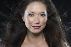 Piękny brunetka włosy model obrazy royalty free