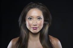 Piękny brunetka włosy model obraz stock