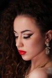 Piękny brunetki kobiety portret Fotografia Royalty Free