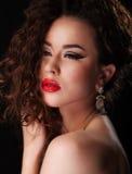 Piękny brunetki kobiety portret Zdjęcia Royalty Free