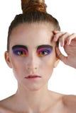 piękny brunetki mody dziewczyny włosy makeup Zdjęcia Stock