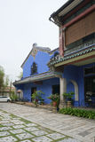 Piękny budynek Cheong Fatt Tze - Błękitny dwór w Geor Fotografia Stock