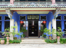 Piękny budynek Cheong Fatt Tze - Błękitny dwór w Geor Zdjęcie Stock