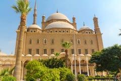 Piękny budynek Muzułmański meczet Meczet Mohammed Ali w Kair obrazy stock
