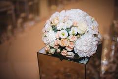 Piękny bukiet dla wakacje i poślubiać kwieciste dekoracje Zdjęcia Royalty Free