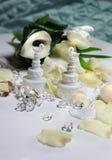 Piękny bukiet i inne ślubne dekoracje Zdjęcia Royalty Free