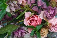 Piękny bukiet z różanym zbliżeniem Obrazy Royalty Free