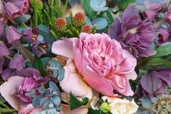 Piękny bukiet z różanym zbliżeniem Fotografia Stock