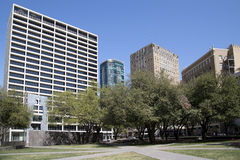 Piękny Burnett park w mieście Fort Worth fotografia stock