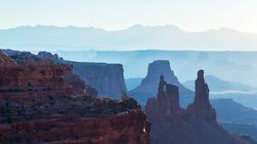 Piękny Canyonlands widok od mesa łuku, Obraz Royalty Free