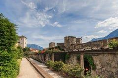 Piękny Castello Del Buonconsiglio w Trento, Włochy Obraz Stock