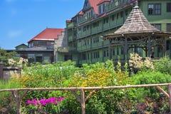 piękny castkill domu mohonk klifu liści czasu szczytu góry jeziora doliny szeroki widok Obrazy Royalty Free