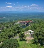 piękny castkill domu mohonk klifu liści czasu szczytu góry jeziora doliny szeroki widok Obraz Royalty Free