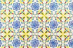 Piękny Ceramiczny Ścienny tekstura wzór W Lisbon zdjęcia royalty free