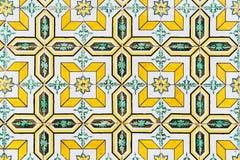 Piękny Ceramiczny Ścienny tekstura wzór W Lisbon fotografia stock