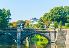 Piękny Cesarski pałac budynek w Tokio Obraz Royalty Free