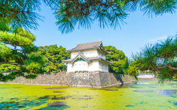 Piękny Cesarski pałac budynek w Tokio Fotografia Stock
