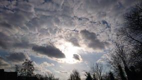 piękny chmur słońca zmierzch Zdjęcia Royalty Free
