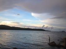 Piękny Chmurny dzień przy nadmorski fotografia stock
